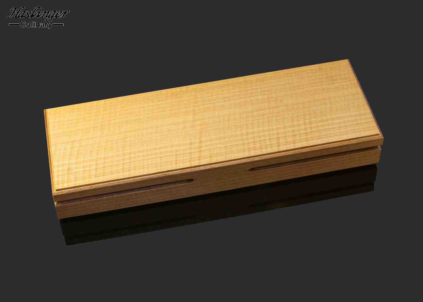 Mammoth Ivory and Stainless Steel Carving Set display box