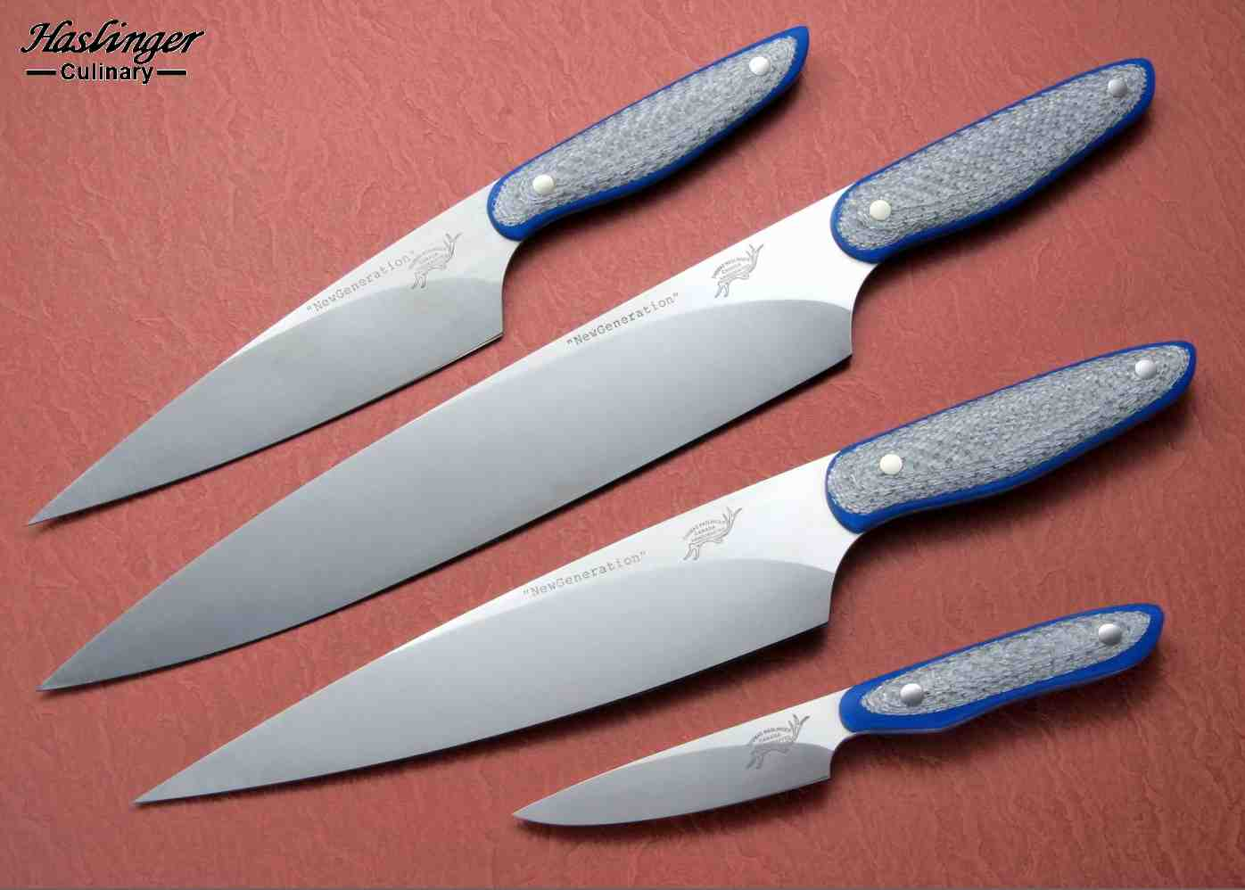 New Generation set in silver twill and G10 handles