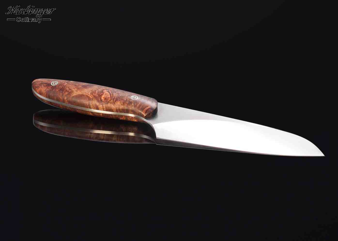 Evolution Chef Knife 142 mm Blade with Premium Spalted Maple Handle other view