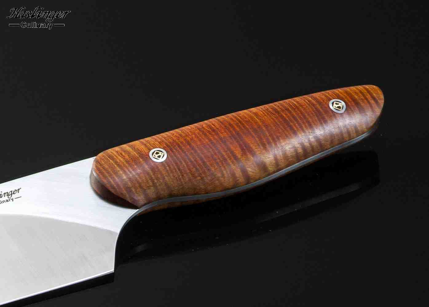 Evolution Chef Knife with Tiger Striped Maple Handle