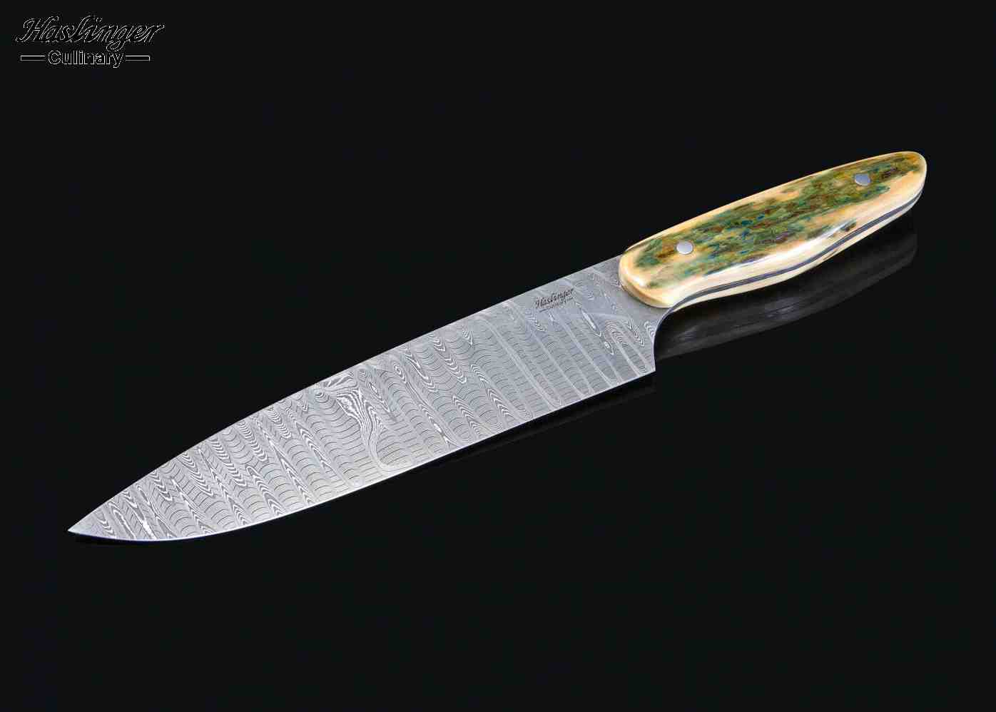 Stanless Damascus Gyoto Chef Knife with Mammoth Ivory Handle